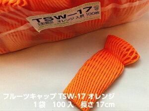 フルーツキャップ TSW-17 オレンジ 【ダブル】17cm 【100個入】(領収書対応可能) 果物 緩衝材 保護材 発泡 ネット メロン マスカット シャインマスカット ぶどう 梨 すいか 西瓜 キャップ フル