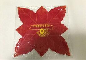 【信和】敷紙 新リーフ (赤)200×200mm(1冊30枚入) 包み紙 リーフ 敷き紙 フィルム 果物 篭盛り 包む