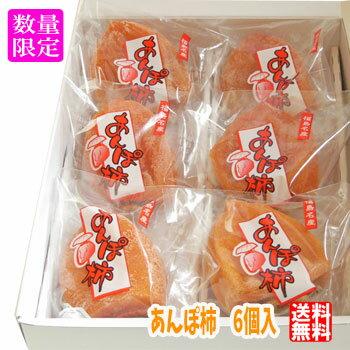 【送料無料】 母の日ギフト あんぽ柿 6粒入 ミニ造花カーネーション付き 干し柿 はちや柿