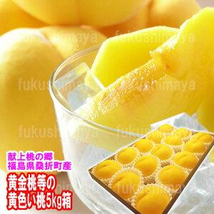 幻の桃 黄金桃 ・ 黄貴妃 等 5kg箱 ( 12〜18玉入 )