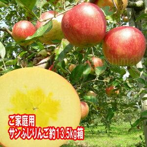 福島県産 サンふじ りんご 約13.5kg箱(9kg箱+4.5kg箱) 36〜75玉入 2020年予約 訳あり ご家庭用 リンゴ 大きさ 不揃い 傷 訳ありリンゴ 蜜入 お得 お歳暮 傷あり キズあり おいしい