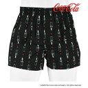 福助 公式 メンズ 「Coca-Cola コカ・コーラ」 ボトル柄 布帛 トランクス CC1P2007Mサイズ Lサイズ LLサイズ 下着 イ…