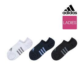 福助 公式 レディース adidas(アディダス) 3足組 ストライプ柄 つま先かかと補強 くるぶし下丈 ソックス 3134-03J23-25cm 靴から見えにくい スポーツ ランニング スニーカー ジム 婦人 靴下 フクスケ fukuske