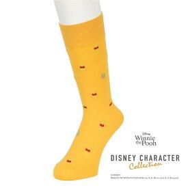 福助 公式 靴下 ソックス メンズ キャラクター Disney ディズニー くまのプーさん くるぶし丈 くるぶし クルーソックス 006-110325-27cm 日本製 オフィスカジュアル ビジネス カジュアル 紳士 フクスケ fukuske