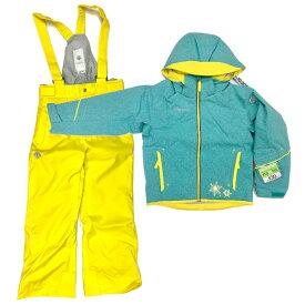 デサント(DESCENTE) ジュニア ガールズ スキーウェア 上下セット DWJMJH96 TEG スノーウェア 子供 のびのびパートナー ヒートナビ(dwjmjh96-teg)