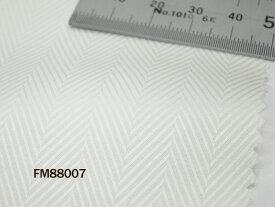 オリジナルオーダーシャツ●FM88007 THOMAS MASON社製 Italy Fabrics白ヘリンボーンドビー地 140番手双糸 100%cotton