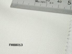 オリジナルオーダーシャツ●FM88013THOMAS MASON社製 Italy Fabrics白ヘリンボーンドビー地 140番手双糸 100%cotton
