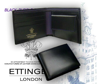♦ BLACK-PURPLE EURO (3 C / cards & mens billfold) 141 JR black - purple euro (men's / note / leather / two-fold purse / wallet / wallet)