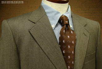 [Winter] three main buttons-return [14033 fractal] Brown of seams patterns-traditional suit