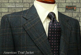 [秋冬] 3ツ釦段返り [ Scabal ] 濃紺チェック ジャケット [ 801083 ] トラッドジャケット