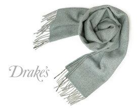 DRAKE'S / ドレイクス マフラー ( サックス系×グレーヘリンボーン ) 18755-008 【楽ギフ_包装】