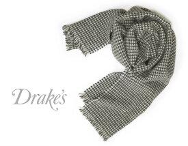 DRAKE'S / ドレイクス マフラー ( ライトグレー×ネイビー×チャコール千鳥 ) 18763-001 【楽ギフ_包装】
