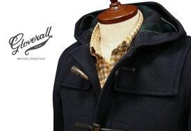 GLOVERALL / グローバーオール スリムフィット・ダッフルコート メンズ ( 920 / C ) ネイビー/ブラックウォッチ●