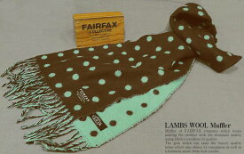 FAIRFAX / フェアファクス ウールマフラー F-40 ( 水玉・ドット柄 )【楽ギフ_包装】【あす楽対応】