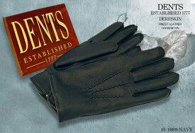■TRAD SALE!DENTS手袋 / デンツ手袋 DEERSKIN / ディアスキン ( 鹿革 ) 15-1089 / NAVY 【楽ギフ_包装】