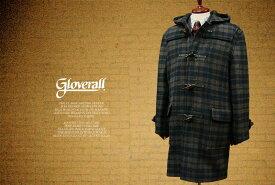 GLOVERALL / グローバーオール メンズダッフルコート ( チェック ) [ 512C ] 2032C-2 ( クラシックモデル ) 男性用/紳士用/メンズ/アウター/コート/ダッフルコート