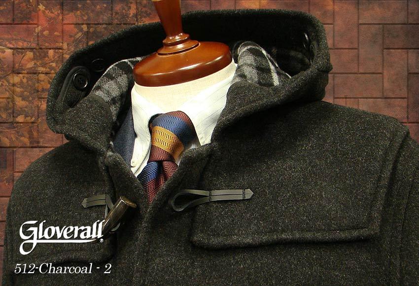 ■TRAD SALE!GLOVERALL / グローバーオール ダッフルコート メンズ ( チャコール2 ) [ 512C ] ( クラシックモデル ) 男性用/紳士用/メンズ/アウター/コート