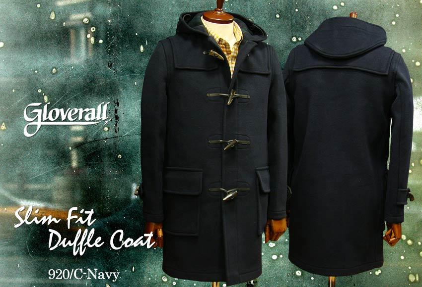 ■TRAD SALE!GLOVERALL / グローバーオール スリムフィット・ダッフルコート メンズ ( 920 / C ) ネイビー●