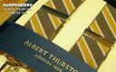 【 ALBERT THURSTON / アルバートサーストン 】 サスペンダー ( ブラウン×イエロー×オフ白レジメンタルストライプ ) ALS-09 【楽ギフ...