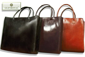 グレンロイヤル / GLENROYAL ●ブライドルレザー ビッグトートバッグ LEATHER TOTE BAG ( L ) 01-3792 ( メンズ/手提げ/革製鞄/大きめサイズ )