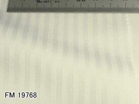 オリジナルオーダーシャツ●FM19768白シャドウストライプ柄 Wrinkle Free / リンクルフリー 100番双糸 100%cotton