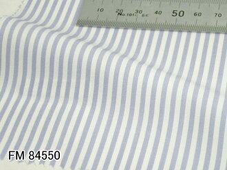 Original custom-made shirt-FM84550 White x Saxe blue stripe 100 count double thread 100 %cotton