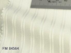 オリジナルオーダーシャツ●FM84564白の織柄ストライプ 100番手双糸 100%cotton