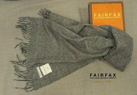 FAIRFAX / フェアファクス カシミヤマフラー fms-71 ( グレー系千鳥柄 ) 【楽ギフ_包装】【あす楽対応】