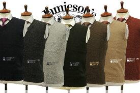 ■TRAD SALE!■【JAMIESON'S】ジャミーソンズ・Vネックプルオーバー・ベスト(MK011) ニットベスト【楽ギフ_包装】