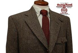 ■3ツ釦段返りハンティングジャケット HARRIS TWEED JACKET / ハリスツイード ( 38ブラウンヘリンボーン ) FSK3535-38