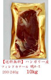 【送料無料】ハンガリー産 鴨肉 合鴨 ロース 10kg箱 フィレドカナール チェリバレー種 200-240サイズ 10kg  40〜44枚