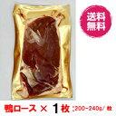 【送料無料】鴨肉 鴨ロース フィレ ド カナール チェリバレー種 ステーキカット 1個 合鴨ロース肉 約200-240 1…