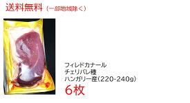 【送料無料】ハンガリー産 鴨肉 鴨ロース フィレ ド カナール チェリバレー種 ステーキカット 合鴨ロース肉(約220-240サイズ)×6枚 1.3kg以上