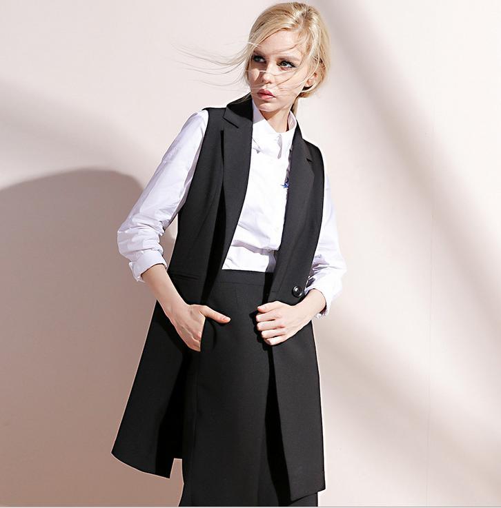 レディースベスト ファッション 女性 ゆったり ロング ジャケット トップス ロングベスト アウター ジャケット 送料無料