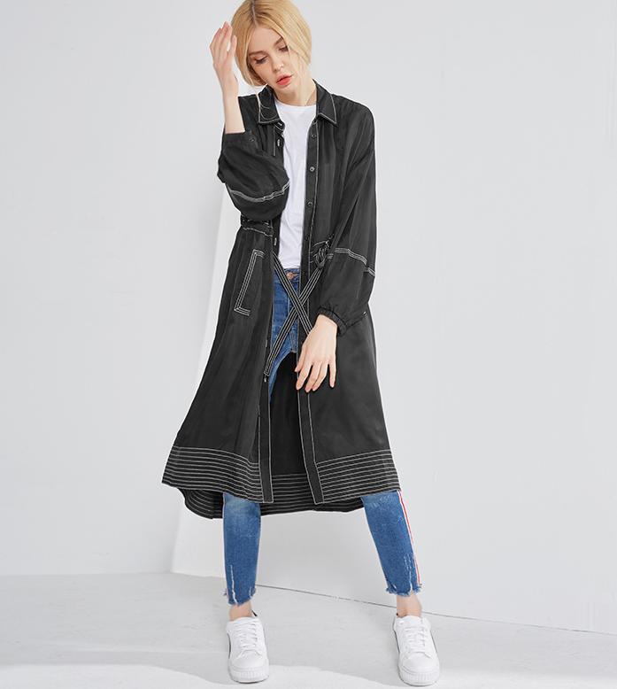 レディースジャケット ファッション 女性 ゆったり ジャケット トップス アウター ストライプ 高品質 ブラウス ロング 薄め カジュアル 送料無料