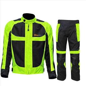 バイクウエア上下セット バイクジャケット バイクパンツ メンズ ナイロンジャケット オールシーズン ライダースジャケット バイクスポン バイク用品 プロテクター装備 防風防寒 保温インナー付き 大きいサイズ