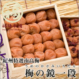 紀州南高梅 プレゼント 梅干し はちみつ梅 包装 熨斗お味を選べる梅の鏡一段