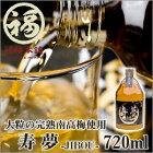 紀州南高梅 梅酒 ギフト 贈答 お歳暮 寿夢-JIBOU-720ml