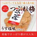 梅干し:つぶれ梅・うす塩味 250g 【asrk_ninki_item】【コンビニ受取対応商品】10P03Sep16