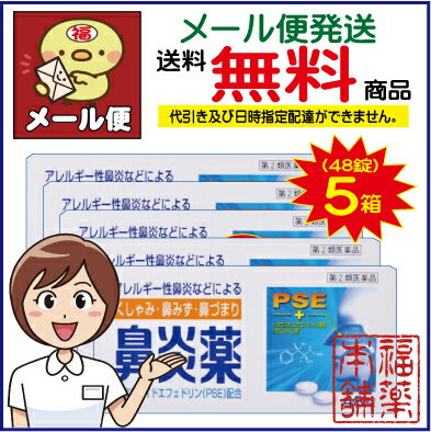 【第(2)類医薬品】鼻炎薬A「クニヒロ」(48錠×5個) [ゆうパケット・送料無料]