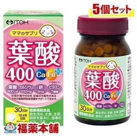 井藤漢方 葉酸400 Ca・Feプラス(120粒)×5個 [宅配便・送料無料] 「T60」