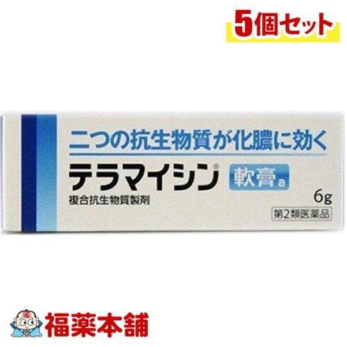 【第2類医薬品】テラマイシン軟膏 6g×5個[ゆうパケット・送料無料] 「YP30」