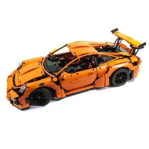 レゴ 互換品 42056 ポルシェ911 GT3 RS オレンジ テクニック プレゼント クリスマス スーパーカー レースカー ラジコン 車 おもちゃ ブロック 互換品 知育玩具 入学 お祝い こどもの日