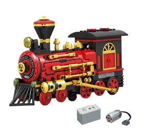 レゴ 互換品 クラシック 蒸気機関車 モーターセット テクニック プレゼント クリスマス