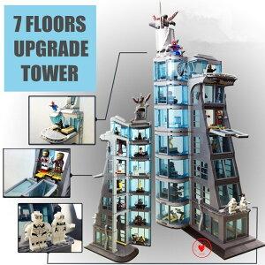 レゴ 互換品 スーパー・ヒーローズ アベンジャーズ タワーの攻撃(7階建てver) ヒーロー出動! マーベル プレゼント クリスマス 知育玩具 学習玩具 おもちゃ ブロック 入学 お祝い こどもの日