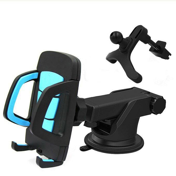 カーホルダー スマホ 携帯ホルダー カーナビ スタンド 粘着ゲル吸盤 360度回転 幅調節可iPhone 6/6S/5などの幅4.5-9.5cm機種対応 送料無料(北海道や離島別)