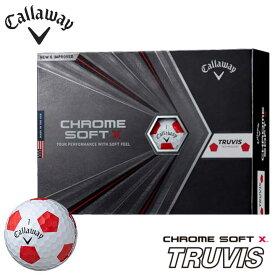 【2020モデル】キャロウェイ ゴルフボール クロム ソフト X トゥルービス ボール 1ダース(12球入り) 日本正規品 CALLAWAY CHROME SOFT X TRUVIS 10p