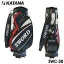 カタナ ゴルフ スウォード キャディバッグ SWC-28 ネイビー 9型 3.7kg 46インチ対応 口枠6分割 KATANA GOLF SWORD BAG