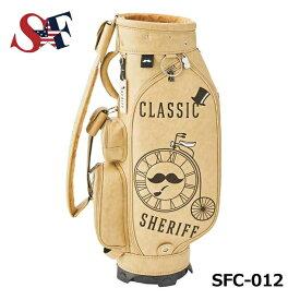 【5月下旬発売予定】 シェリフ SFC-012 VANILA 2点式 新作クラシックシリーズキャディバッグ 9.0型 3.9kg SHERIFF