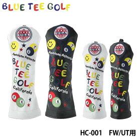 ブルーティーゴルフ HC-001 スマイル&ピンボール フェアウェイ/ユーティリティ用 ヘッドカバー BLUE TEE GOLF